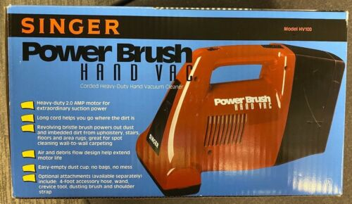 New Old Stock Singer Power Brush Heavy Duty Hand Vac Vintage NEW