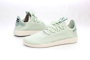 85261f004f415 Adidas Pharrell Williams PW Tennis HU Linen Green Tactile Mens Size ...