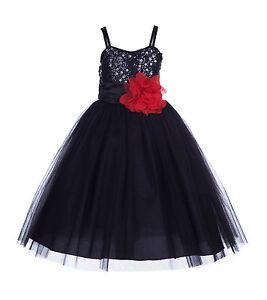 Wedding-Sequin-Mesh-Flower-Girl-Dress-Pageant-Graduation-Halloween-Party-B1508NF