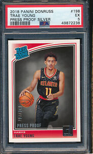 2018 Donruss Press Proof Silver #198 Trae Young RC PSA 5