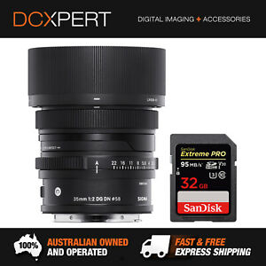 SIGMA 35MM F/2 DG DN CONTEMPORARY LENS FOR SONY E-MOUNT (4347965) + SD CARD