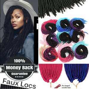 100-Natural-Like-Faux-Locs-Dread-Lock-Crochet-Braiding-Full-Head-Black-Ombre-HU