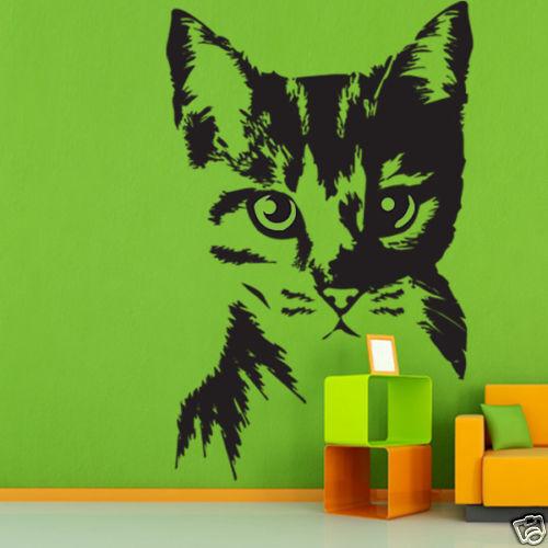 00133 Wall Stickers Arredamento Adesivi Murali gattino gatto parete decorazione