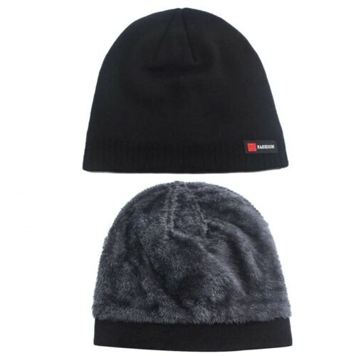 Beanies Skullies For Men /& Women Winter Hat Knitted Thick Warm Brimless Fur Cap