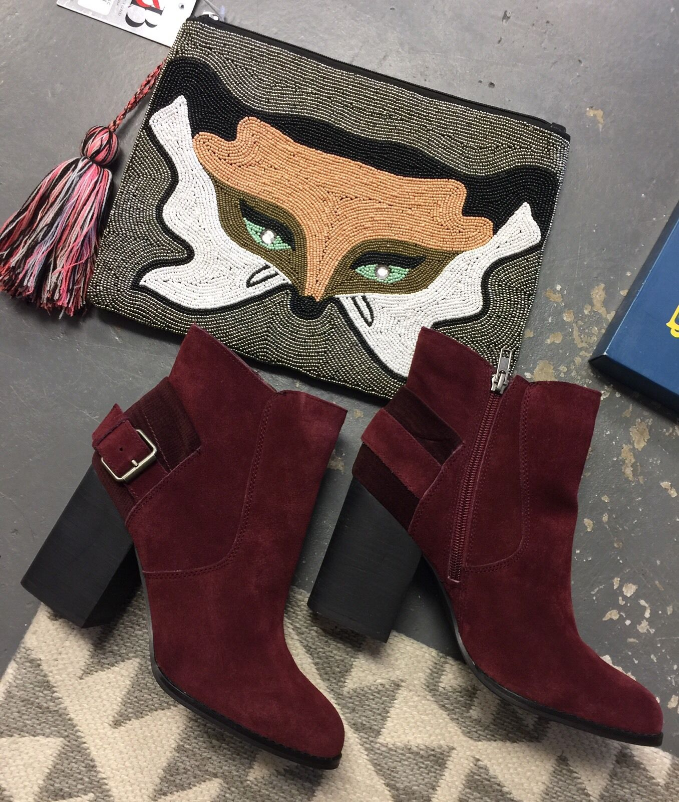 Women's Suede Leather Sbicca Boots Lorenza Wine Color Size 7.5 Brand NEW BOOTIES