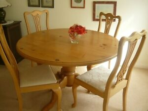 120 Cm Circular Dining Table And 4 Chairs Ebay