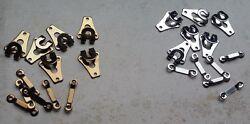 8 Stück Hosenhaken Rockhaken Rockverschluss 18x14mm Hosenverschluss