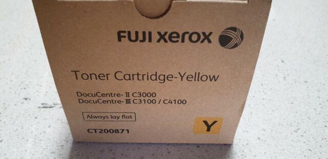 Genuine Xerox CT200871 Yellow for DocuCentre-II C3000 DocuCentre-III C3100 C4100