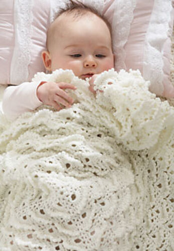 """VINTAGE MERINGUE STITCH 3-PLY BABY BLANKET APPROX CROCHET PATTERN 30/"""" SQUARE"""