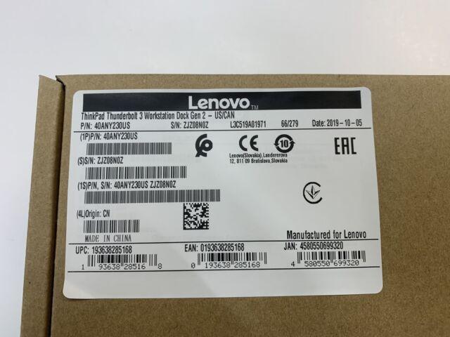 Lenovo 40ANY230US ThinkPad Docking Station Thunderbolt 3 Workstation Dock Gen 2