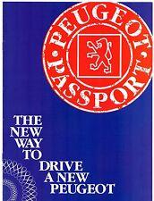Peugeot Mid 1993 UK Market Advertising Supplement Brochure 106 205 306 405 605