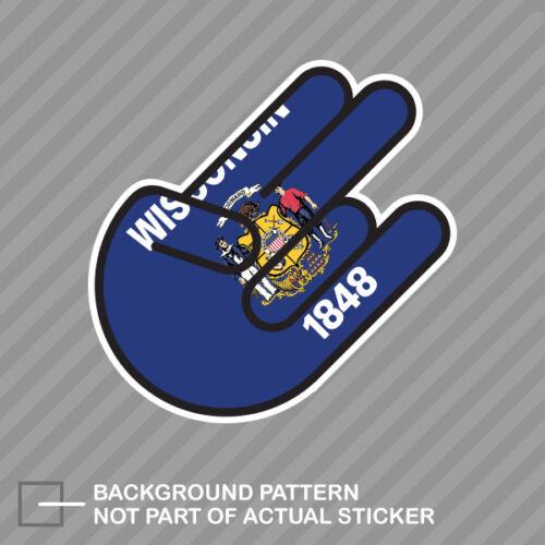 Wisconsin Shocker Sticker Decal Vinyl wisconsinite WI
