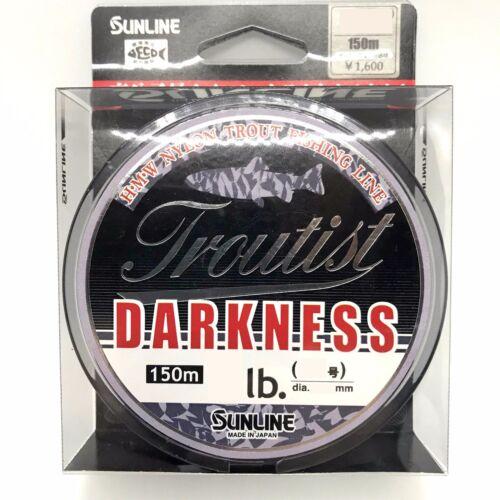 Sunline Troutist Darkness Nylon Monofilament Line 150m 150m