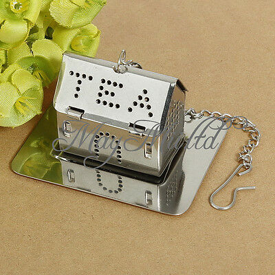 Stainless Steel House Tea leaf Bag Locking Mesh Strainer Tea Infuser Fashion M