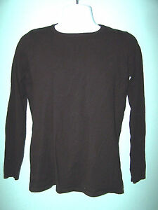 Mens Long Sleeve Black Thin Pullover Sweater Size S (check measurements)