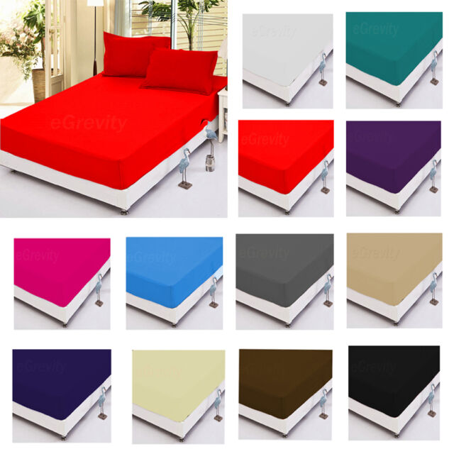 Luxury Polycotton Fitted Sheets Flat Sheets or Pillow cases Single Double King