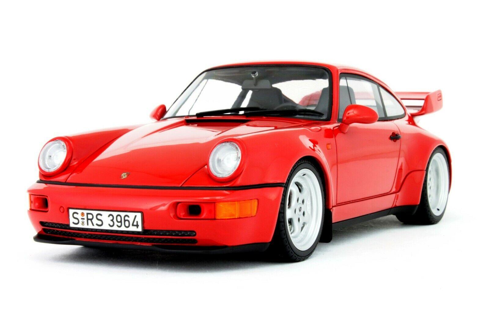 1 18 GT Spirit Porsche 911 (964) Carrera RS 3.8 (rosso) Limited 1500 pcs. FOAM BOX
