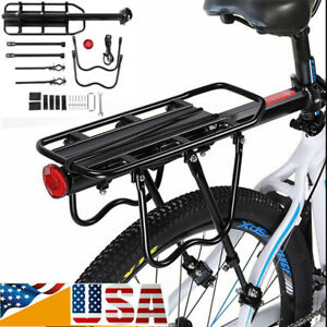 Bike-Bicycle-Quick-Release-Carrier-Rear-Rack-Fender-Luggage-Seat-Post-Pannier-US