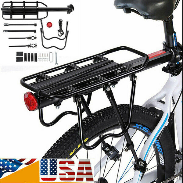 Black Mountain Cycling Bicycle Bike Seat Post Rear Carrier Cargo Rack Extendable