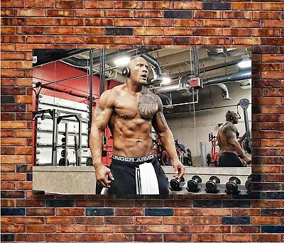 Art Poster Dwayne Johnson The Rock Muscle Movie Actor 36 27x40in Wall Silk N369