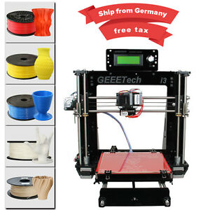 Duty free Geeetech Acrylic Reprap Prusa I3 Pro B 3D imprimante MK8 free shipping