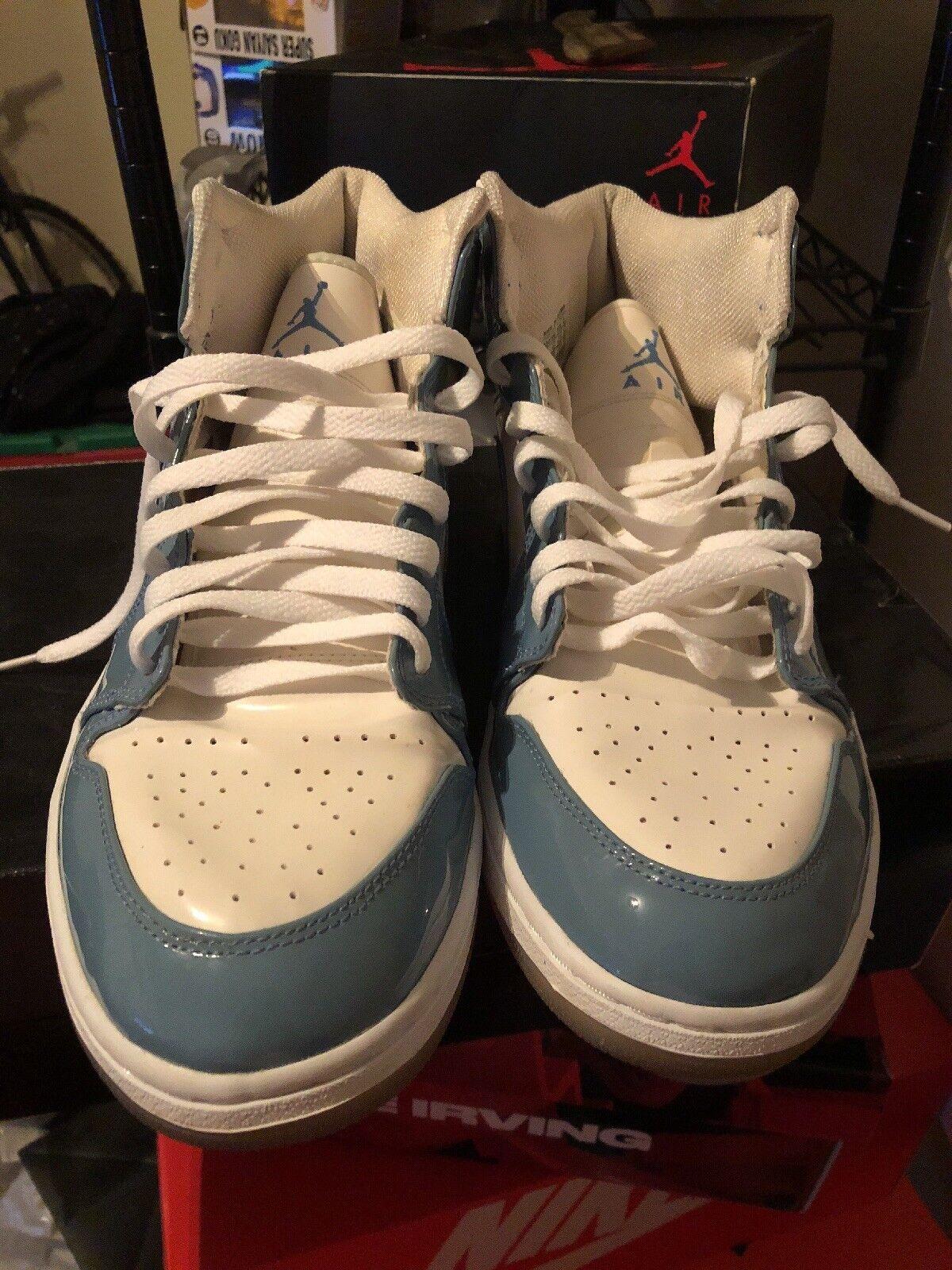 c4e33b0c879c5 Air Jordan 1 Nike Retro 2003 Patent Leather 136085 140 Reveal Grey Orange  White Uni Blue