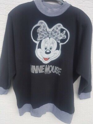 Disney Minnie Mouse Org Anni .80 Sweater Maglione Sweatkleid Washed Taglia L-