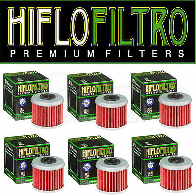Yamaha YZF 250 2009-2019 Oil Filter Set HiFlofiltro HF140 Pack of 6