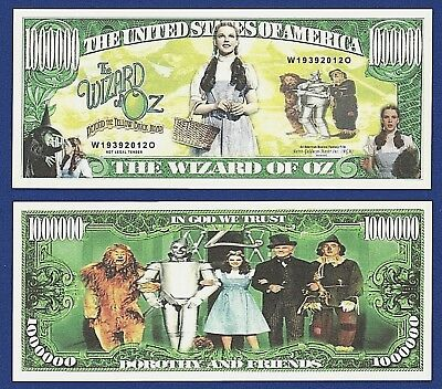 WIZARD OF OZ Yellow Brick Road $2 U.S Bill in COLLECTIBLE 8x10 GIFT DISPLAY