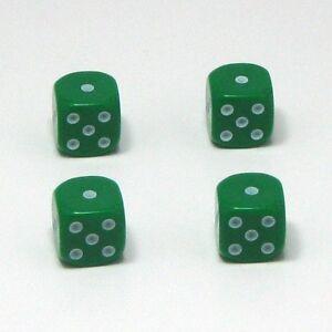 Set-of-Four-Green-Dice-Dust-Caps-Snake-Eyes-X4-80s-Retro-Valve-Caps-BMX