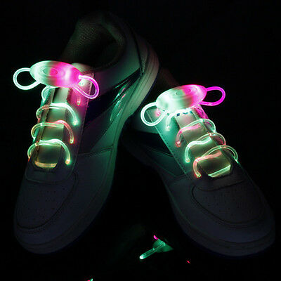 Sports Lighting Flash Light Up Skating LED Shoe Laces Shoelaces Shoestrings Cool
