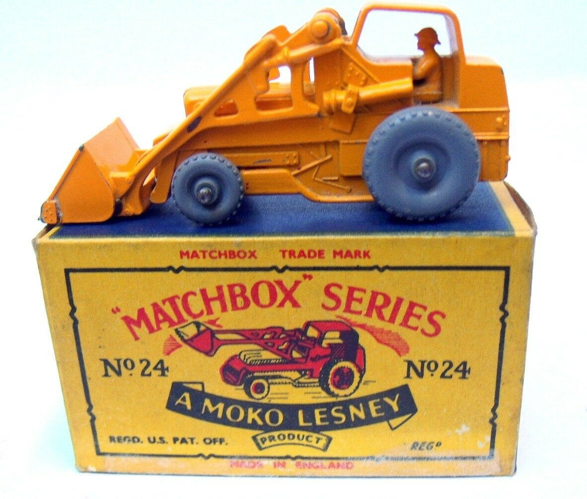 MATCHBOX weatherrill Excavateur 24 ENGLAND BY LESNEY vintage Box.1958