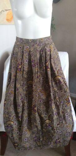 Orvis Womens Vintage Taupe Multi Printed Skirt Siz