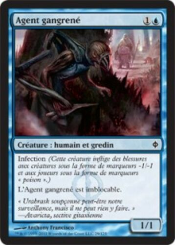 Blighted Agent *MRM* FRENCH 4x Agent gangrené MTG New Phyrexia