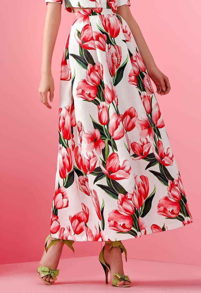 Gonna Allure bianco e rot con paiette 42 Elegant dress Elegantes Kleid Robe