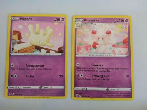 Alcremie 087//192 rare plus bonus Milcery card Rebel Clash