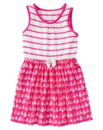 NWT Gymboree Girls Hop N Roll Pink Striped Sailboat Dress Size 4 5 6 7 8 /& 10