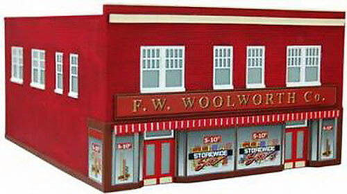 IMEX Perma-Scene N Scale F. W. WOOLWORTH Co. - Built-Up - IMX 6317