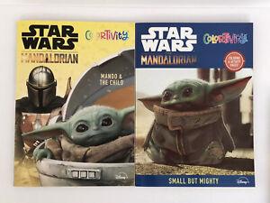 2-Star-Wars-Mandalorian-Baby-Yoda-Coloring-amp-Stickertivity-Books-Kids-Boys-Art