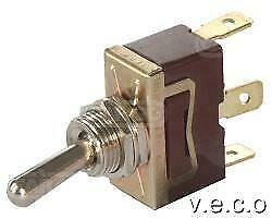 REPLACEMENT SPRING LOADED SHORT ARM METAL TOGGLE SWITCH 12 VOLT 24 VOLT 180585