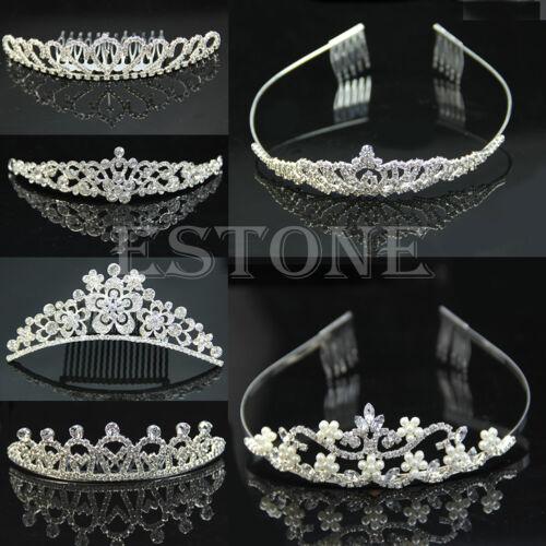 Wedding Bridal Rhinestone Crystal Hair Headband Crown Comb Tiara Prom Pageant