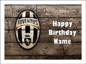 Juventus Round Edible Birthday Cake Topper Frosting Sheet Decoration