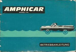 AMPHICAR-770-Betriebsanleitung-Bedienungsanleitung-Handbuch-Bordbuch-BA