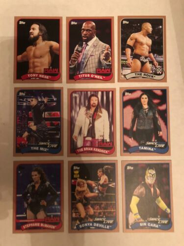 2018 Topps WWE Heritage Bronze Parallel Base Cards #1-110 You Pick!