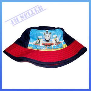 Kids Boys Sun Cotton Cap Bucket Hat Brim Summer Beach Thomas ... bf54cd05585