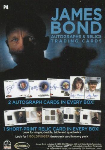 James Bond Autographs /& Relics Promo Card P4