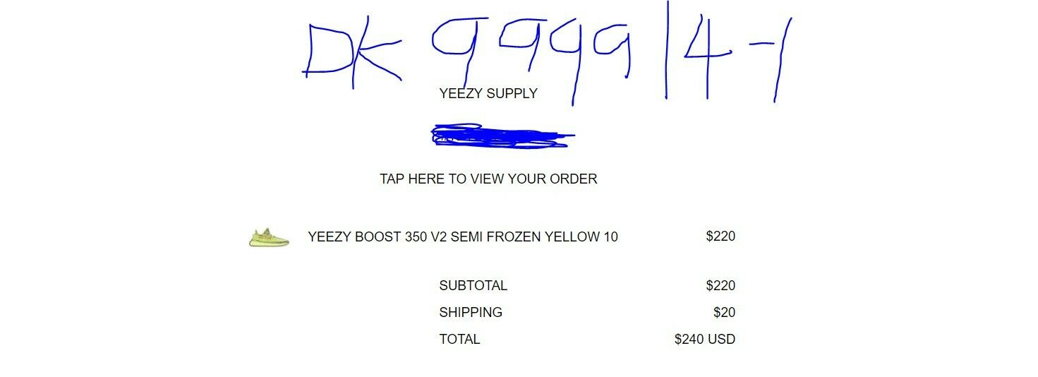 "Yeezy Boost 250 V2 ""Semi Frozen Yellow"" Authentic Preorder"