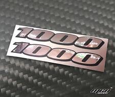 Suzuki GSXR 1000 Espejo Cromo Adhesivo Calcomanía logotipo para paneles traseros K7 K8 x2