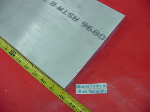 1x 8x 42 ALUMINUM 6061 FLAT BAR T6511 SOLID 1.000 New Plate Mill Stock