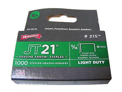 Pfeil JT21 Packung mit 1000 8mm Klammern Neu für die Verwendung Guns